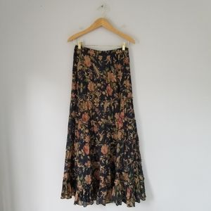 Denim & Supply Maxi Tiered Floral Skirt